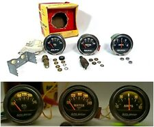 AutoMeter 2 Inch Amps + Oil + Water Temperature Gauge Kit W/ Senders Illuminated