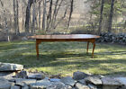 Vintage D. R. Dimes tiger maple oval dining table American country Queen style