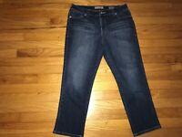 Nine West Vintage Boho Women's Denim Blue Jean Cropped Pants Size 8
