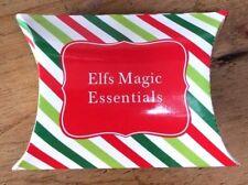 1 christmas elf santa cardboard pillow gift box bag red green white stripy gloss