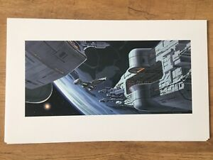 Phantom Menace PRINT Star Wars Rare Vintage 1999 Doug Chiang Lithographs Art