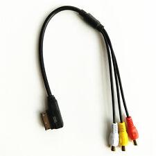 For VW For Audi AMI A3 A4 A6 A7 A8 Q5 Q7 R8 MMI RCA Video Audio Input AUX Cable