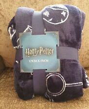 Harry Potter Fleece Throw Blanket Quidditch Primark Homeware Bedding Navy Home