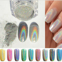 1g Holographic Holo Chrome Glitter Powder Dust 3D Nail Art Decor Pretty DI Jx