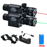 Hunting Red Green Dot Laser Beam Sight Scope Mount Tactical Rifle Pistol Air Gun