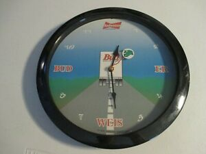 VINTAGE 1995 Anheuser-Busch BUDWEISER King Of Beers FROG Wall CLOCK  VGC
