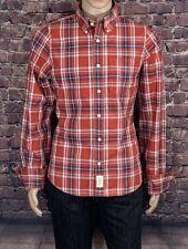 Abercrombie Muscle Size L Men's Shirt Slim Fit L/Sleeve Button Front 100% Cotton
