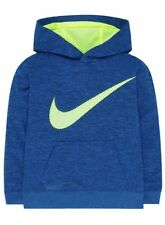 Nike Youth Therma-fit Hoodie Size 5 Blue Lagoon Black Jordan Tech Fleece