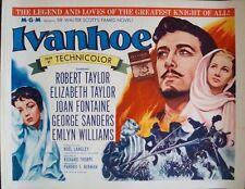 IVANHOE half sheet movie poster R62 22x28 ELIZABETH TAYLOR ROBERT Rolled NM