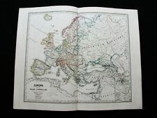 1880 SPRUNER - rara mappa: EUROPEAN EMPIRE, EUROPE, UKRAINE, CRIMEA, BLACK SEA