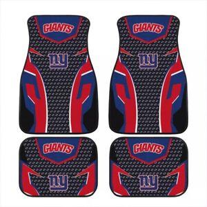 New York Giants 4PCS Car Floor Mat Front Rear Waterproof Carpet Universal Fit