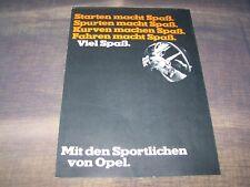 TOPRARITÄT Schöner Prospekt Opel Sportmodelle 1969 GT Commodore Rekord Kadett !!
