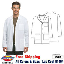 Dickies Scrubs LAB COATS Men's Fashion 31 Inch Lab Coat 81404