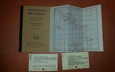 1944-59 US Army Maps Melanesia 20 Sheets w/ Gazetteer WW II Solomon Islands