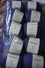 Rowan Hilos niño clásico tejido de lana 835 púrpura Lote 5CI ~ 10x50g bolas 500g