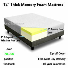 12 inch THICK 5ft KING BED SIZE MEMORY FOAM ORTHOPAEDIC MATTRESS - Vacuum Packed