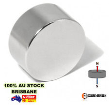 1X Powerful Neodymium Disc Magnets 38.1mm X 19.05mm N52 | Heavy Duty Rare Earth
