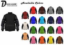 Men's Varsity Jacket Genuine Leather and Wool Letterman College Varsity Jackets