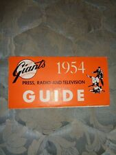 1954 NEW YORK GIANTS MEDIA GUIDE WORLD CHAMPS! San Francisco Yearbook Program AD