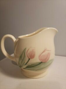 Creamer Pitcher Pfaltzgraff Ceramic Pottery Country Pink Tulip Flower Design