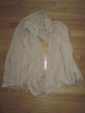Soft Solid Tan Camel Fringe Scarf Wrap Shawl Classic Fashion