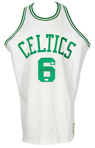 Bill Russell Signed Boston Celtics White M&N Jersey BAS LOA AA05475