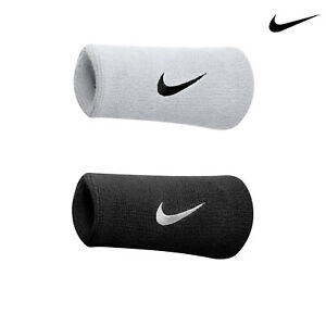 Nike Sports Sweat Wristbands One Pair (NK281)-Stretch Tennis Fitness Sweatbands