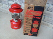 Coleman 200A 195 Lantern Dated 6-63 With Box and Instructions Nice Finish