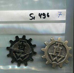 THW Mützenabzeichen Metall altsilber 45mm 1 Stück (Si496)