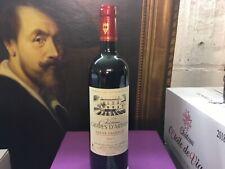 2 bouteilles Chateau Graves d'Arthus Saint Emilion millésime 2017