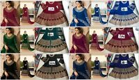 Designer Anarkali Salwar Kameez New Party Wear Suit Pakistani Indian Fashion FM