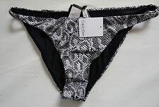 Women's Calvin Klein Swimwear Bikini Bottom Snake Print Grey Color Size 14