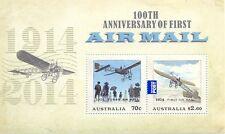 Australia-100th Anniv.First Airmail min sheet mnh 2014 new issue