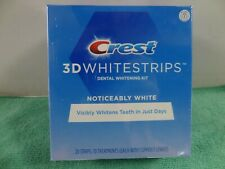 New Crest 3D  Noticeably White Whitestrips 10 Treatments (20Strips) Exp-2/2022