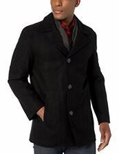 Cole Haan Men's Long Sleeve Melton Wool Car Coat (Black, Size 2)