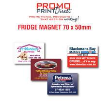 250  Custom Printed Fridge Magnet 70 x 50mm FREE Artwork & Postage