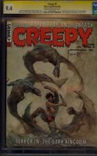 CREEPY 9 CGC 9.4 SS SIGNED FRANK FRAZETTA CLASSIC DEMON COVER SUPER RARE 1966