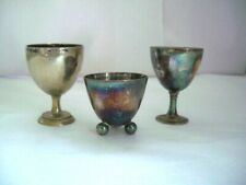3 X Silver Plate Egg Cups ~ all 3 are different
