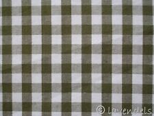 Vichy Karo Stoff Baumwolle ♥ kariert khaki / oliv 0,5 grün