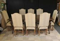 Engish Farmhouse Dining Set Refectory Table and Chair Set Kitchen Diner
