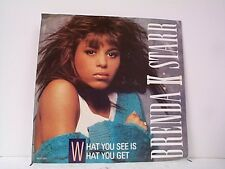 "BRENDA K STARR ""WHAT YOU SEE IS WHAT YOU GET / SAME"" 45w/PS PROMO MINT"