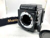 【EXC+5】 Mamiya RB67 Pro SD Body Waist Level Finder 120 Film Back From JAPAN