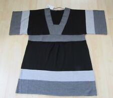 EVANS BLACK / GREY SHORT SLEEVE DRESS / TUNIC SIZE 20 ACRYLIC NEW WITH TAGS