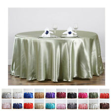 """120"""" Round Satin Tablecloth For Wedding Party Banquet Events Decoration"""