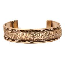 Women Copper Bracelet Jewelry Cuff Brass Magnetic Pain Therapy Healing  Bangle