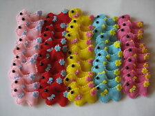 SCOTTIE RHINESTONE APPLIQUES PADDED 50 PACK PINK RED YELLOW AQUA DARK PINK