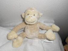 "carlton cards cream tan monkey long legs arms hug soft plush 5"" sitting"