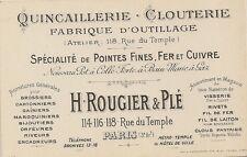 CARTE DE VISITE QUINCAILLERIE CLOUTERIE FABRIQUE D'OUTILLAGE