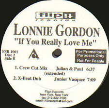 LONNIE GORDON - If You Really Love Me - Flip It -  (Double Pack Promo) FSR-1001