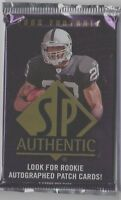 1-2008 UPPER DECK SP AUTHENTIC NFL SERIAL #ED R/C PATCH AUTOGRAPH HOBBY HOT PACK